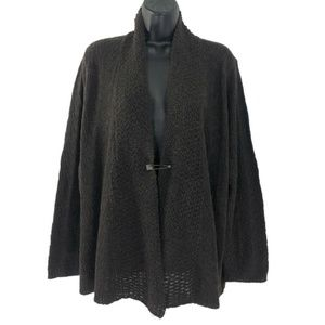 Eileen Fisher Cardigan Sweater 1X Brown